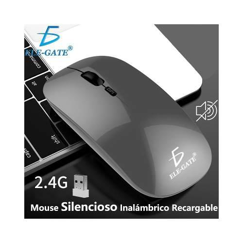 Mouse Inalámbrico Recargable Silencioso Raton Wireless