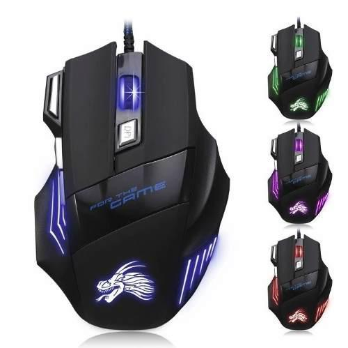 Mouse Led Profesional 7 Botones Gamer Gaming Oferta Barato