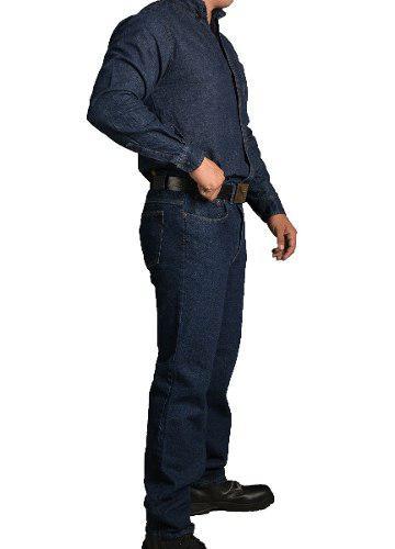 Pantalon De Mezclilla 14.5onz Talla Especial 38-40