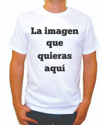 Playera Personalizada Blanca Con La Imagen Que Quieras