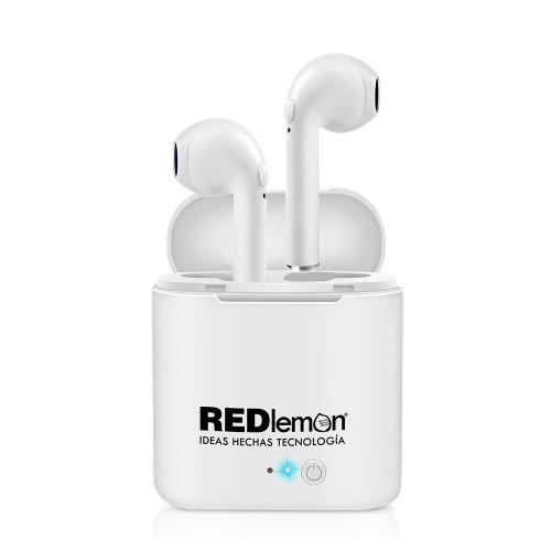 Redlemon Audífonos Bluetooth Básicos Base De Carga I7 Mini