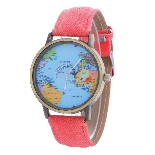 Reloj De Avión Mapa Mundial Original + Precio De Mayoreo