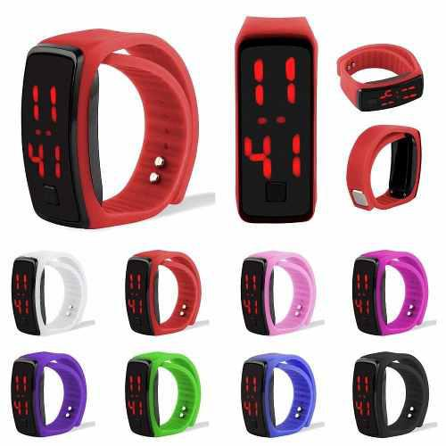 Reloj De Pulcera De Moda Candy Touch Digital Led Sport