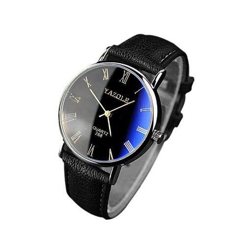 Reloj Hombre Casual Acero Cuarzo Color Azul Brillante