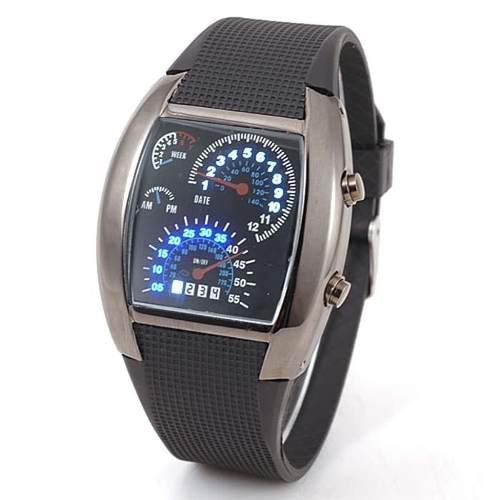 Reloj Led Aviation Tipo Velocímetro Novedoso