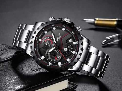 Reloj Lujo Nibosi Hombre Cronografo Acero Inoxidable +punzon