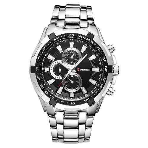 Reloj Metalico Marca Curren Acero Quarzo Almejor Precio 8023