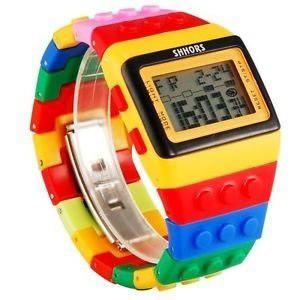 Reloj Tipo Bloques Para Niños Y Jovenes Marca Shhors
