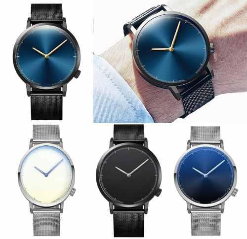 Relojes 2019 Hombre Moda Casual Metal Calidad Premium Envío