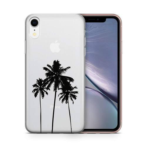 Ucolor Funda Compatible For iPhone Xr(6.1 Inch),palm Tree Sh