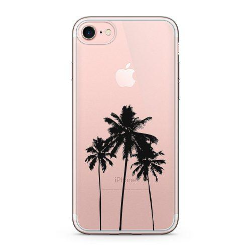 Ucolor Palm Tree Clear Funda Para iPhone 6s iPhone 6 Transpa