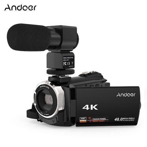 Videocámara Andoer 524km 4k 1080p 48mp Wifi Negra