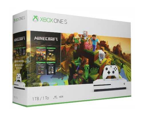 Xbox One S 1tb 4k Hdr 1 Control Minecraft Nueva Gold /e