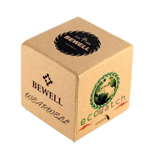 Bewell Mini Cuadrado Cartón Reloj Caja Reloj De Pulsera