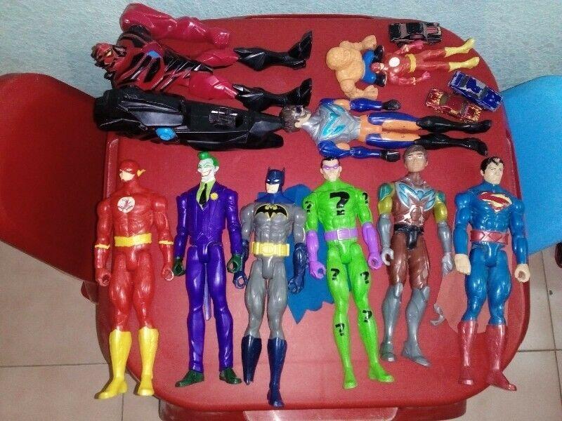 Lote de 10 muñecos DC, Liga de la justicia, Max tell, la