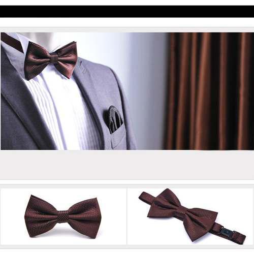 Moda Hombres Esmoquin Corbata De Moño Color Sólido Corbata