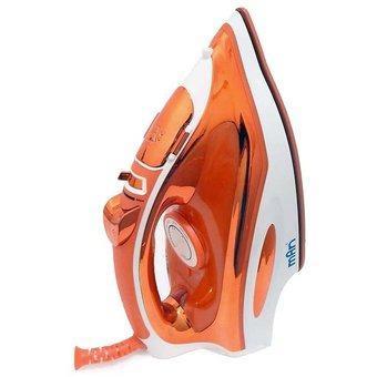Plancha De Vapor Suela Ceramica Color Naranja Man Pc0203b =a