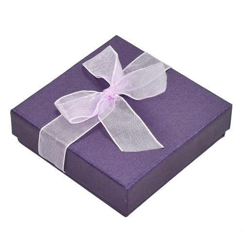 Pulsera Caja Reloj Joyas Regalo Caja Caso Púrpura