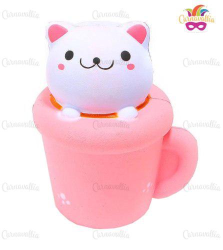 Squishy Kawaii Jumbo Aromático: Taza De Gato