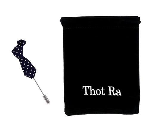 Thot Ra Fistol Figura Corbata Pin Azul Marino D-272