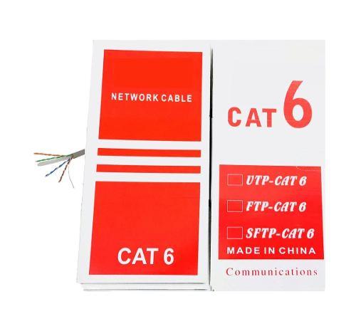 Bobina Cable Red Utp Rj45 Cat6 Ethernet 305 Mts Cctv Cat 6