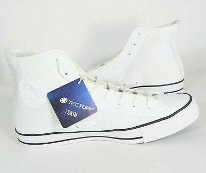 Converse #29.5 All Star Hi Fuse Shoes White Black TecTuff