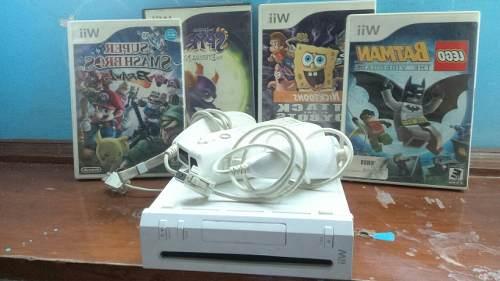 Nintendo Wii Con 2 Controles + 8 Juegos