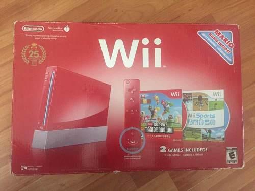 Nintendo Wii Con El Juego De Súper Mario Bross Wii Incluido