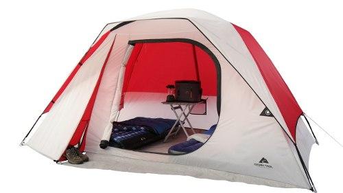 Ozark Trail Casa De Campar Para 6 Personas Blanco Con Rojo
