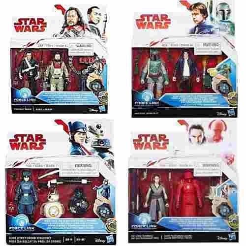 Star Wars Coleccion Force Link 9 Fig Boba Bb8 Hans Jedi Etc