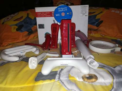 Wii Con Wii Sports, 2 Controles, Accesorios Para Wii Sports