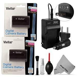 2 Pack) Vivitar Np-fm500h Batería Y El Kit De Cargador