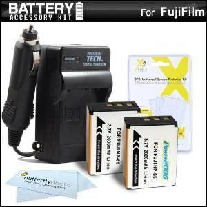 2 Paquete De La Batería Y El Kit De Cargador Para Fuji