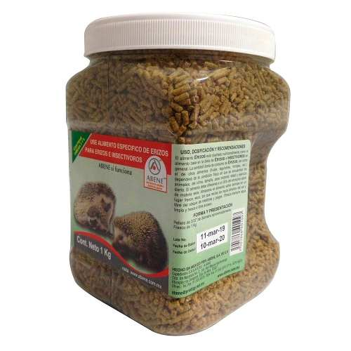 Abene Alimento Erizos Insectívoro Hedgehog 1 Kg Envio