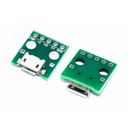 Adaptador De Micro Usb (v8) A Dip Placa Pcb