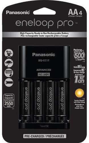 Baterías Aa Y Cargador Eneloop Pro Panasonic-2550 Ma