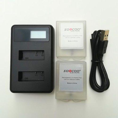 Bateria Camara De Accion Soocoo De 3.8v 1050mah Y Cargador