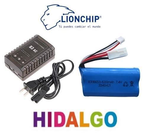 Bateria Recargable Pila Lipo 7.4v 1500 Mah Cargador Litio
