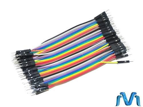 Cable Jumpers Dupont Macho Macho 10cm 40pzas Arduino