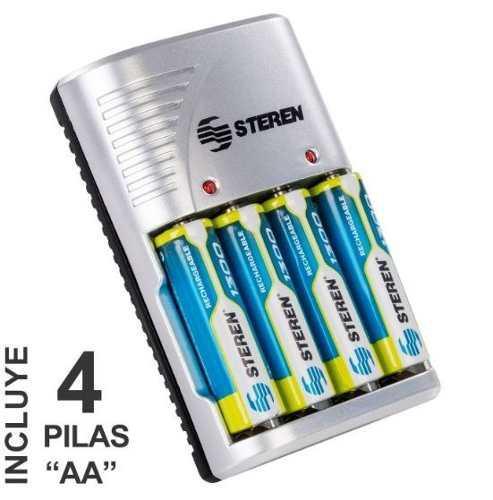 Cargador Baterias Recargables Aa, Aaa 9v Incluye 4 Pilas Aa