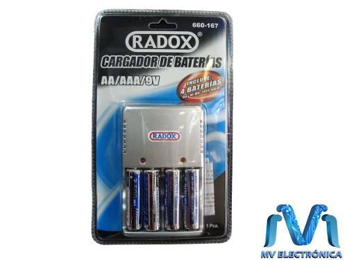 Cargador De Baterias Aa/aaa/9v Con 2 Baterias Aa Y 2 Aaa