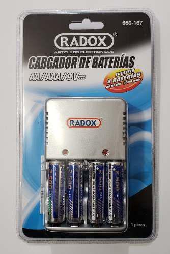 Cargador De Baterias Recargables Aa Y Aaa Incluye 4 Pilas Aa