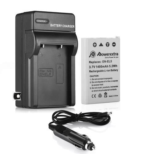 Charger + 1x Battery - Cargador + Batería En-el5 Para