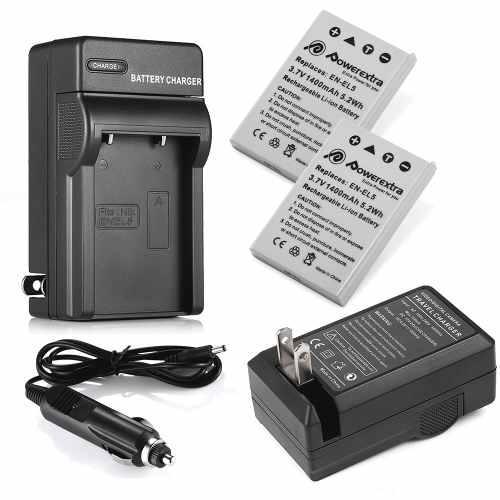 Charger + 2x Battery - Cargador + Batería En-el5 Para