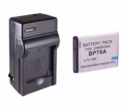 Kit 1 Cargador + 1 Bateria Bp-70a Para Camara Samsung