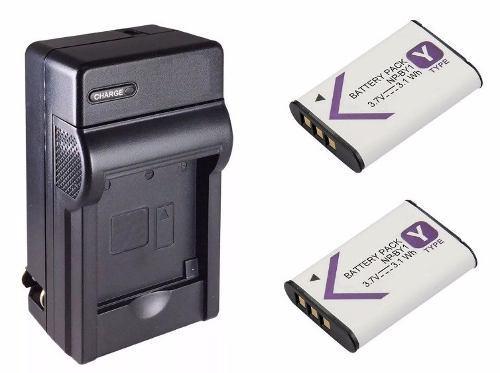 Kit 1 Cargador + 2 Baterias Np-by1 Para Cámara Sony