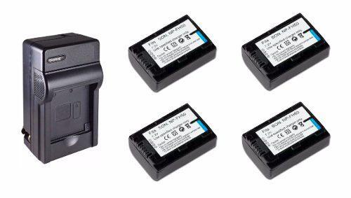 Kit 1 Cargador + 4 Baterías Np-fh50 Para Camara Sony