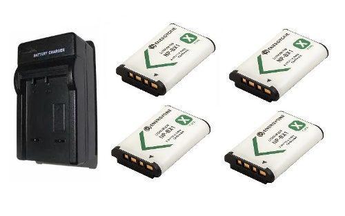 Kit 1 Cargador + 4 Baterias Para Sony Np-bx1