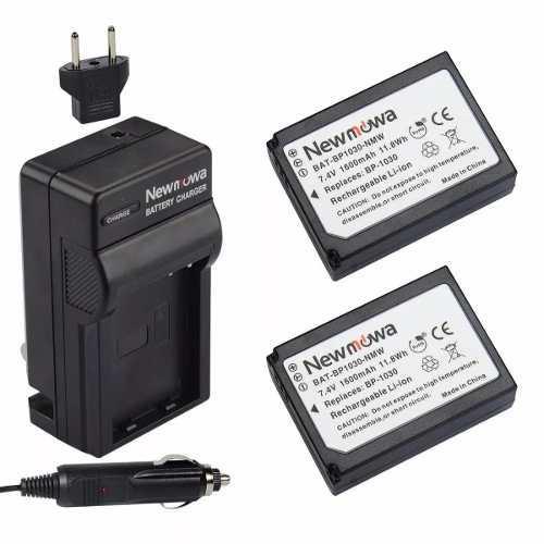 Kit 2 Baterias Y 1 Cargador P/ Samsung Nx Bp1030 Newmowa