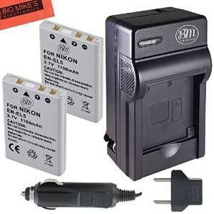 Kit Bm Premium Pack De 2 Baterías En-el5 Y Cargador De